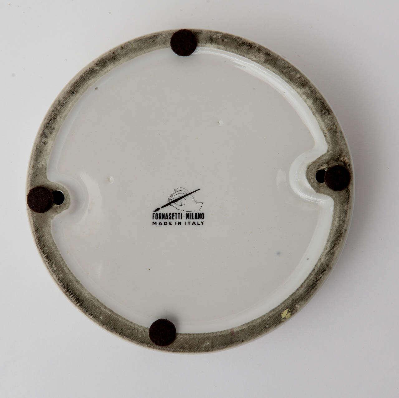 Piero Fornasetti Porcelain Bowl Mid-Century Modern For Sale 3