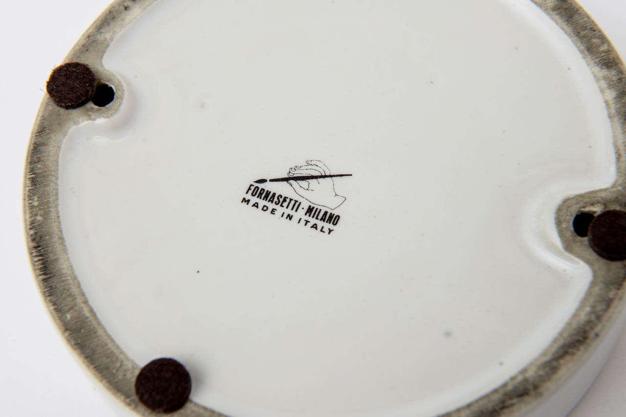 Piero Fornasetti Porcelain Bowl Mid-Century Modern For Sale 4