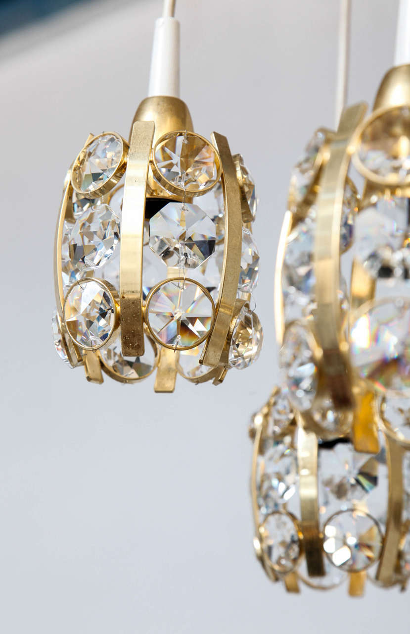 Mid-Century Modern Stunning Bakalowits Cascade Chandelier For Sale