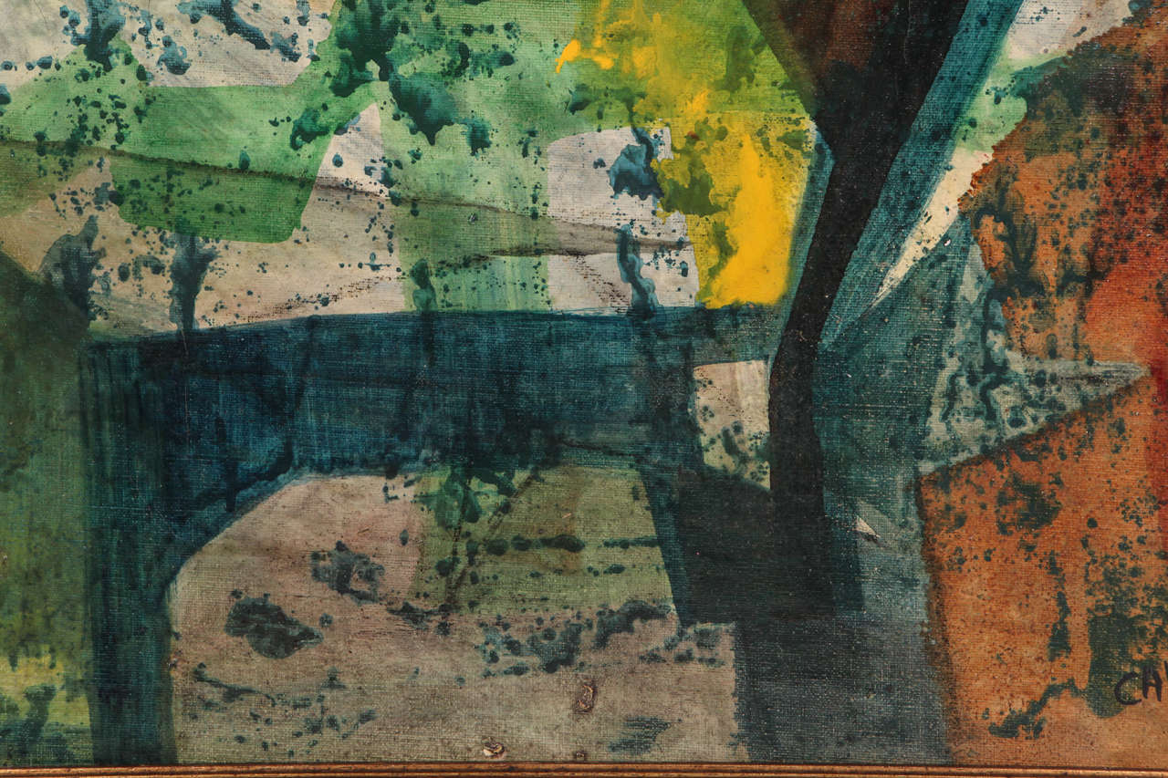 American Original Mid-Century Abstract Painting For Sale