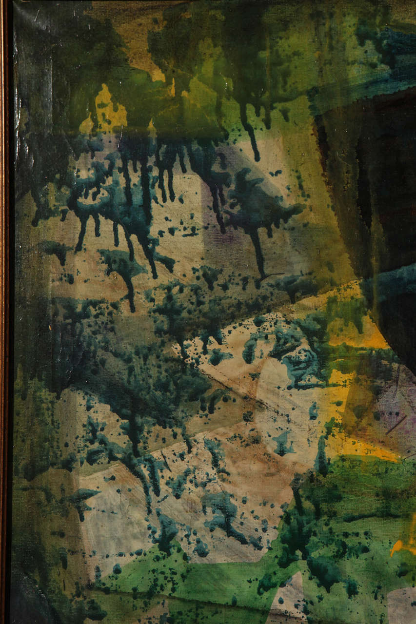 Original Mid-Century Abstract Painting For Sale 1
