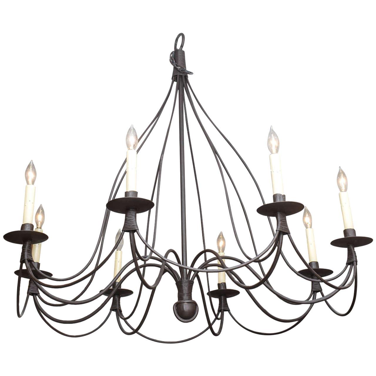 French iron chandelier chandelier designs eight light french iron chandelier at 1stdibs aloadofball Gallery