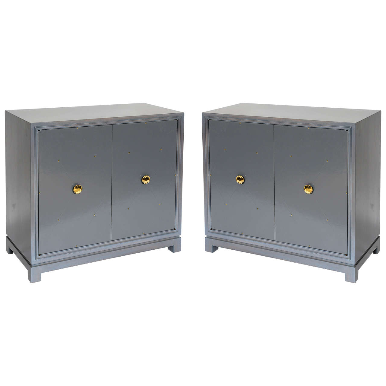 Tommi Parzinger for Charak Modern Pair of Cabinets For Sale