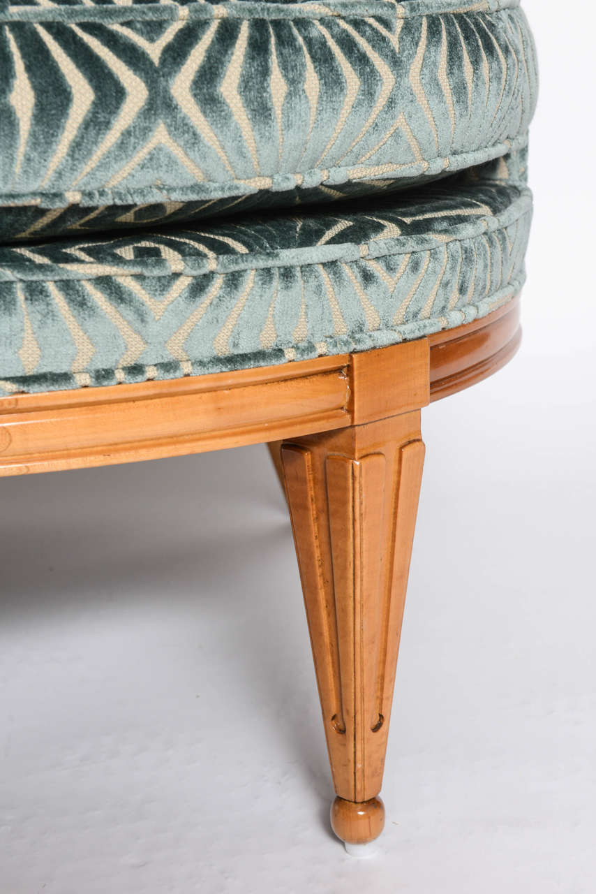 Mid-20th Century Grosfeld House, 1940s Glamorous Curved Slipper Chair For Sale
