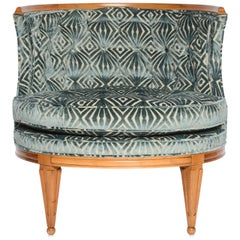 Grosfeld House, 1940s Glamorous Curved Slipper Chair