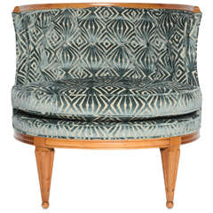 Grosfeld House, 1940s Glamorous Curved Slipper Chair