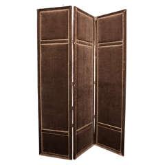 Custom Three-Panel Folding Velvet Screen