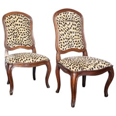 Pair of 18th Century French Louis XV Side Chairs