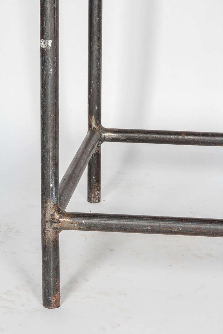 Unknown Industrial Cast Iron Console Table For Sale
