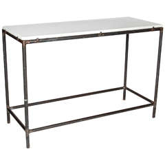 Industrial Cast Iron Console Table