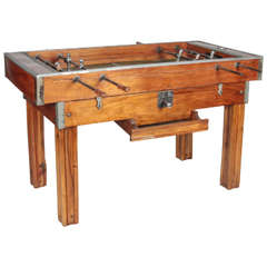 1950's Bilhares Triunfo Two-Person, Coin-Operated Foosball Table