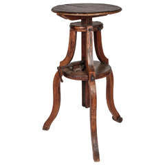 Adjustable Wood Pedestal