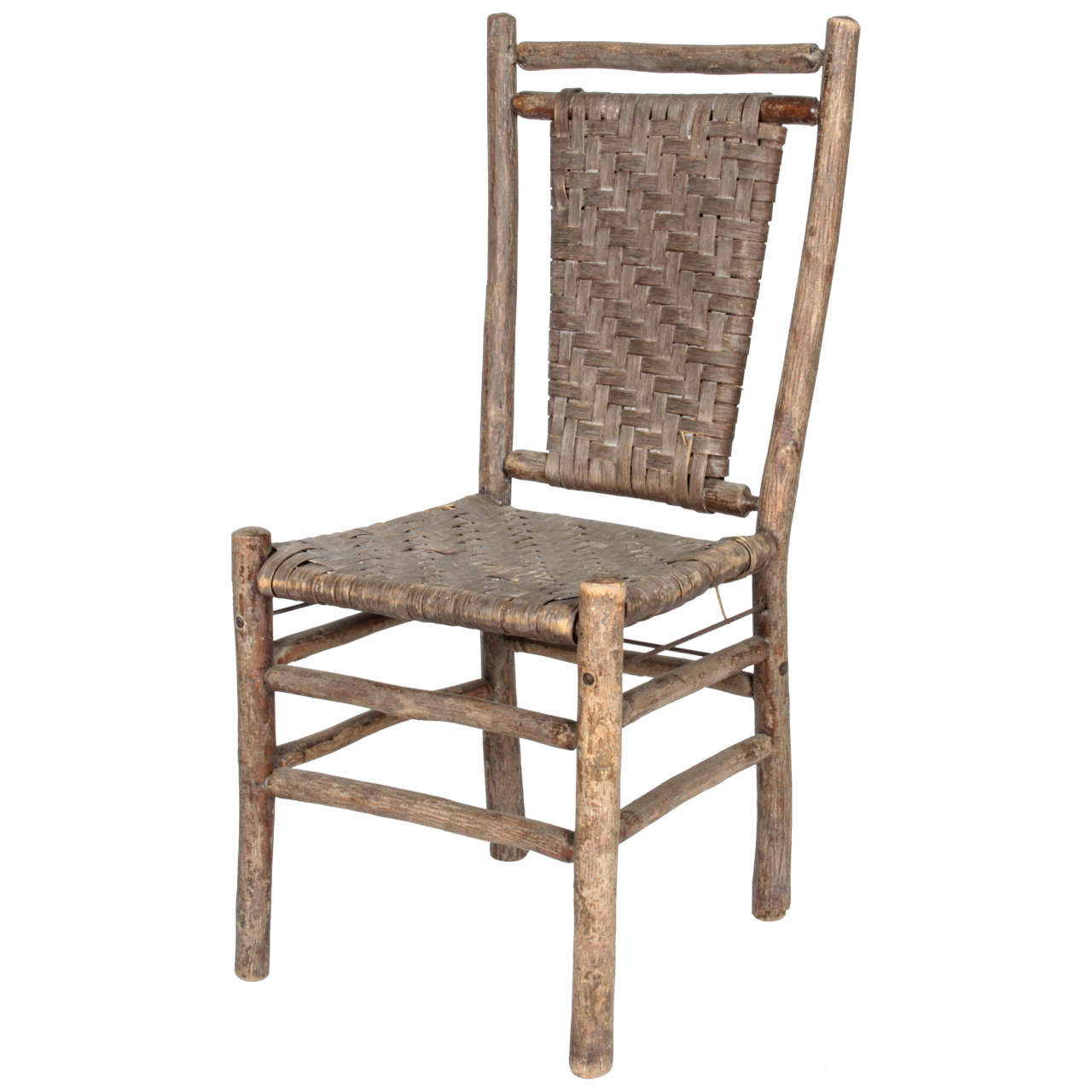Old Hickory Side Chair For Sale at 1stdibs