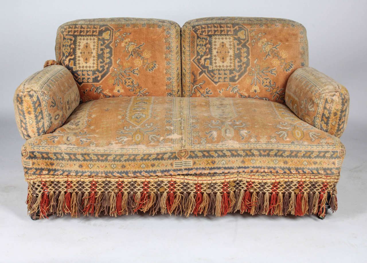 19th Century Au Bon Marché Moorish Tapestry Sofa And Chairs Set