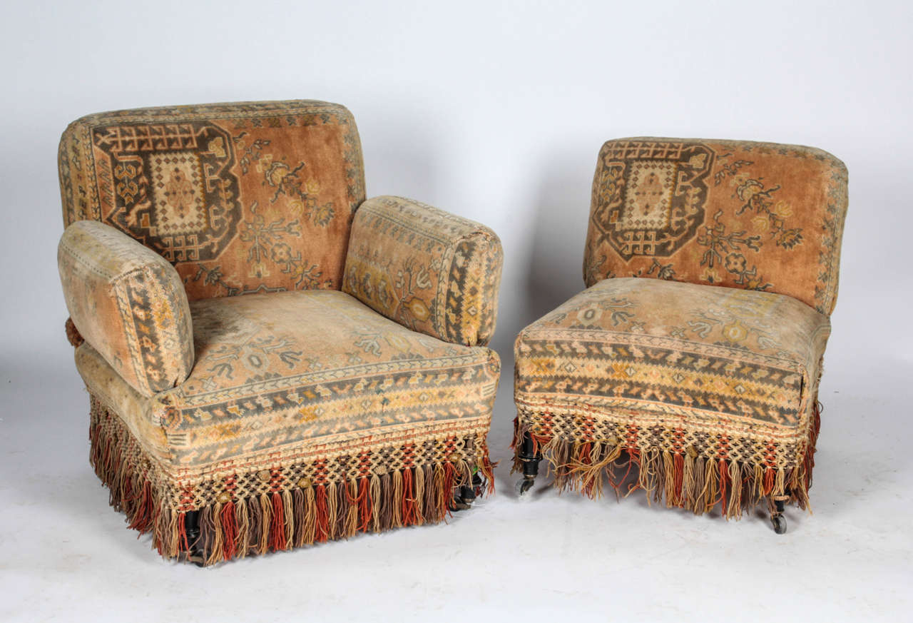 19th century au bon marche moorish tapestry sofa and for Tapestry sofa living room furniture