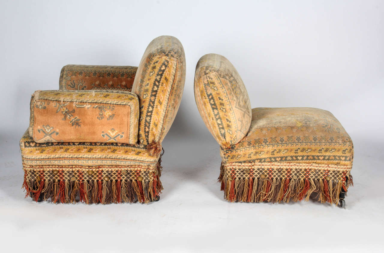 19th Century Au Bon March Moorish Tapestry Sofa And Chairs Set For Sale At 1