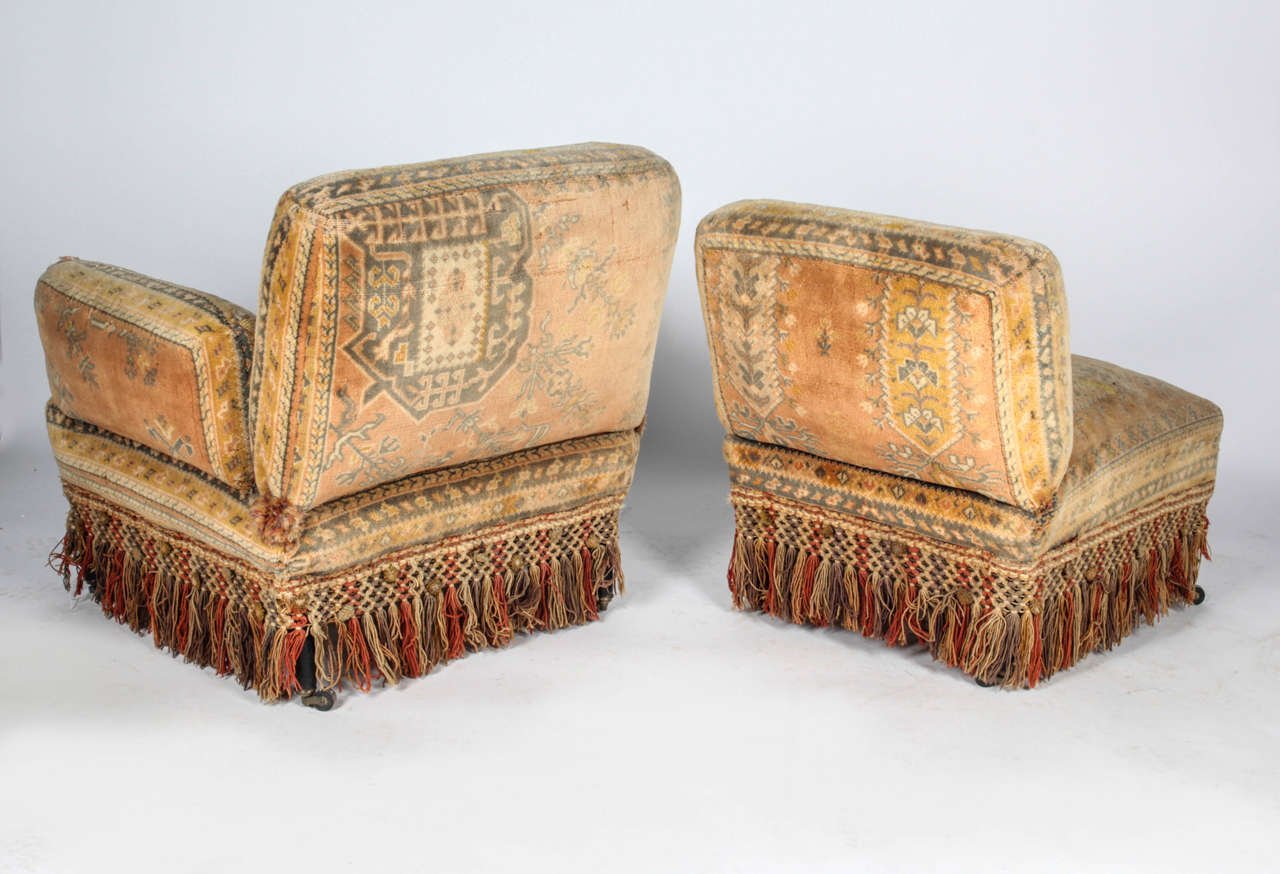 19th Century Au Bon March Moorish Tapestry Sofa And Chairs Set For Sale At 1stdibs