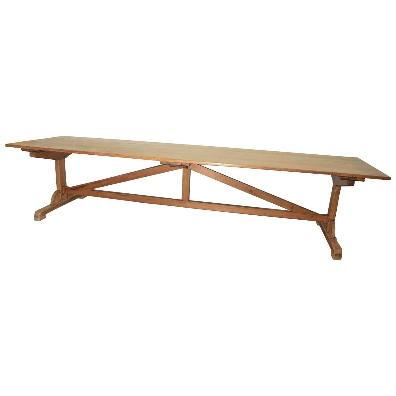 Trestle Base Oak Farm Table