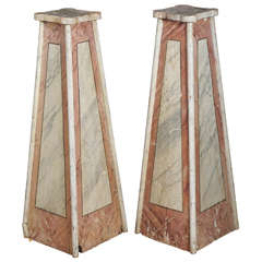 Pair of French Faux Pedestals