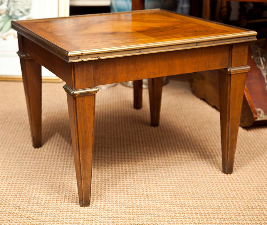 American Vintage Baker Furniture Fruitwood Side Table For
