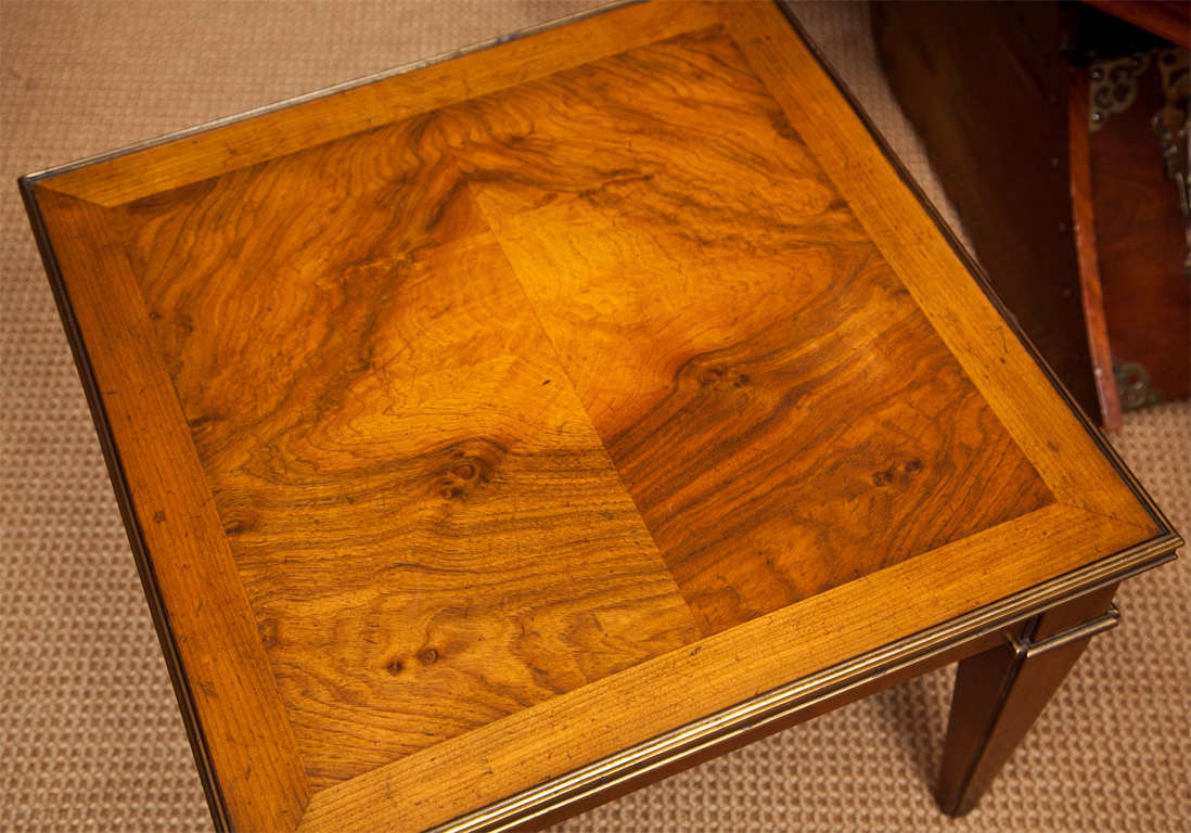 Vintage Baker Furniture Fruitwood Side Table In Excellent Condition For Mt Kisco Ny