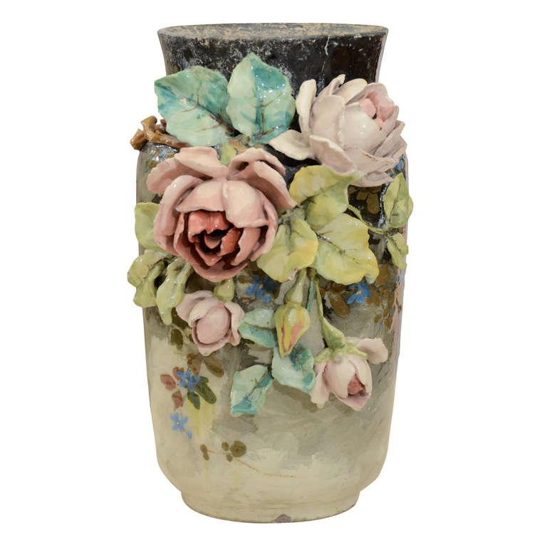 French Art Pottery vase 1