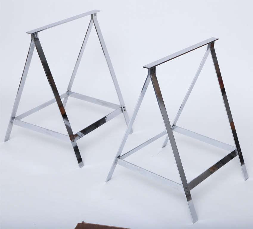 English Alessandro Albrizzi Trestle Table For Sale