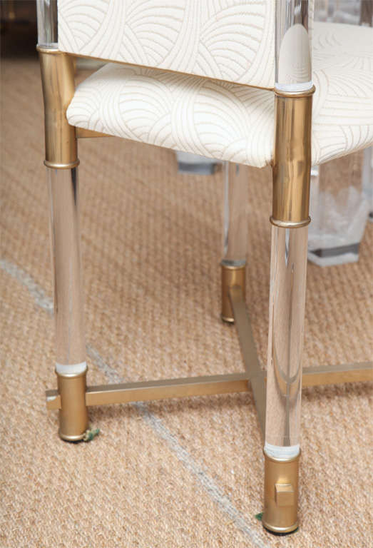 Moroccan Inspired Italian Lucite Dining Chairs By Pavia At