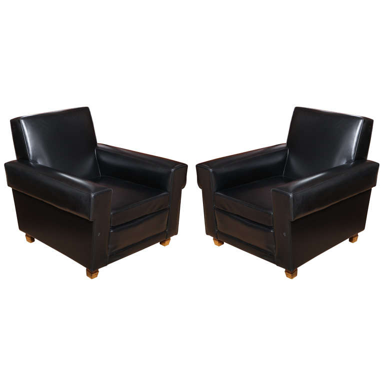 English 40u0027s Pair of Oversized Club Chairs by Erton For Sale  sc 1 st  1stDibs & English 40u0027s Pair of Oversized Club Chairs by Erton For Sale at 1stdibs