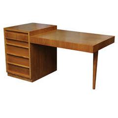 Grand T.H. Robsjohn Gibbings Walnut Desk
