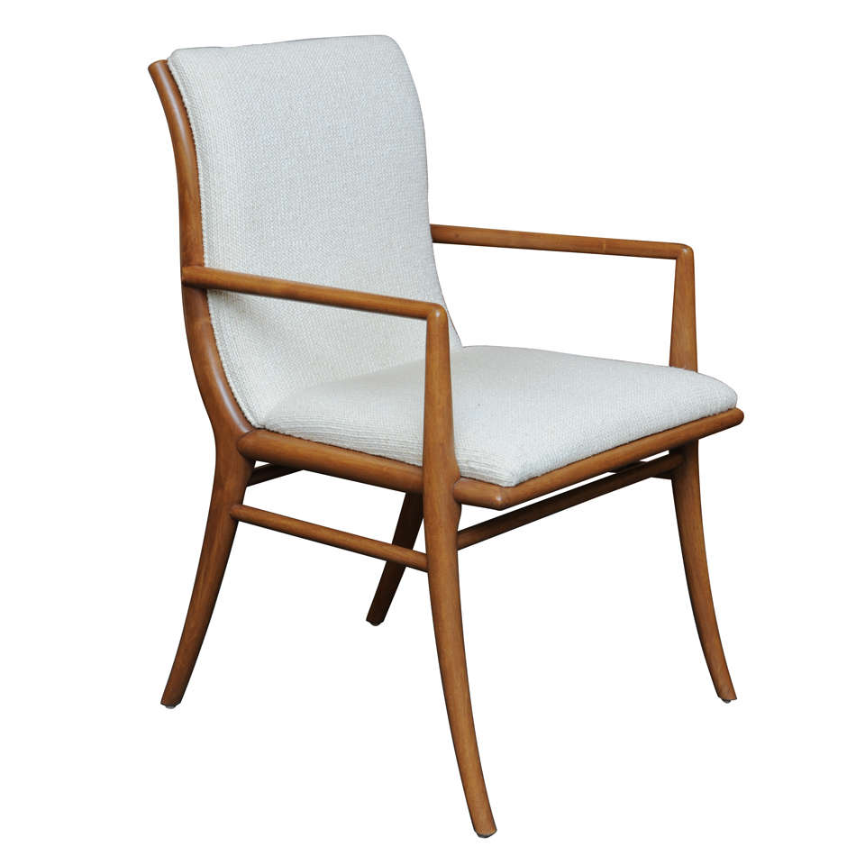 Sinuous Robsjohn Gibbings Saber Leg Armchair At 1stdibs