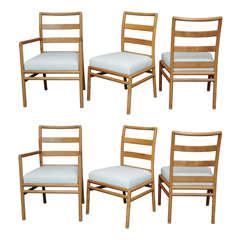 TH Robsjohn Gibbings Ladderback Dining Chairs for Widdicomb