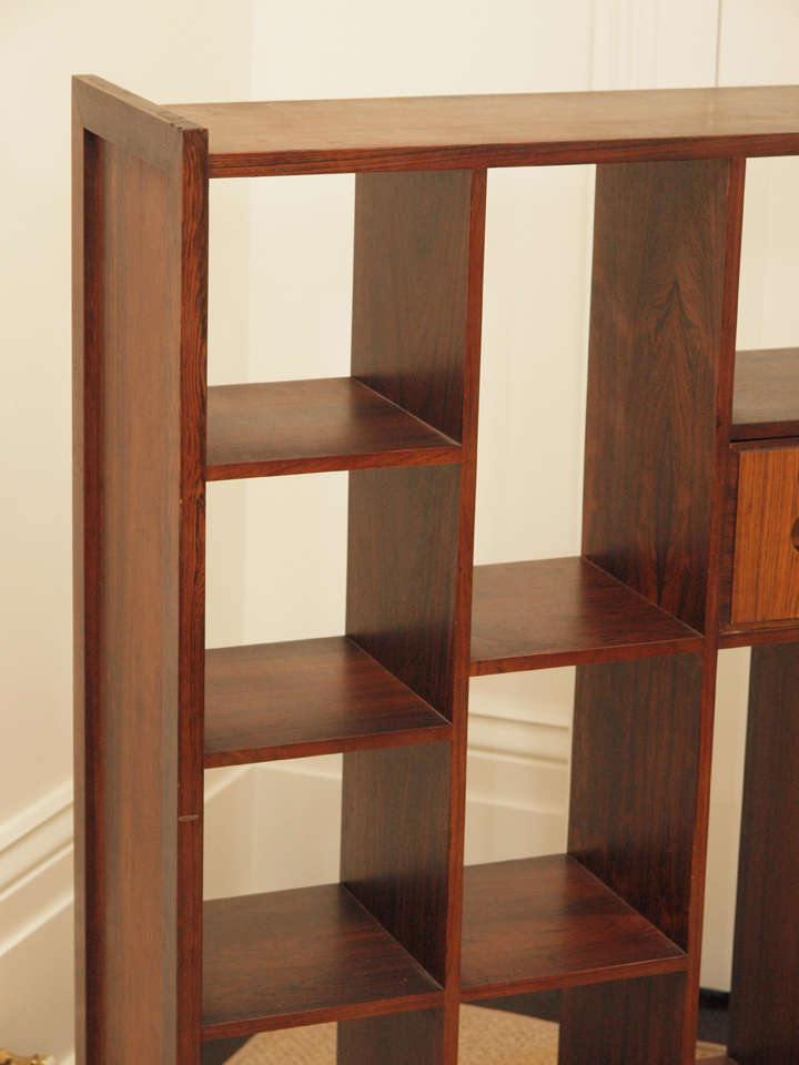 Rosewood Bookcase Room Divider At 1stdibs