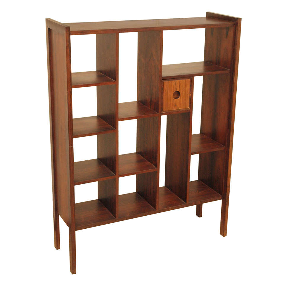 Rosewood Bookcase Room Divider For Sale At 1stdibs