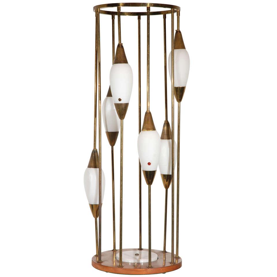 mid century murano table lamp at 1stdibs. Black Bedroom Furniture Sets. Home Design Ideas