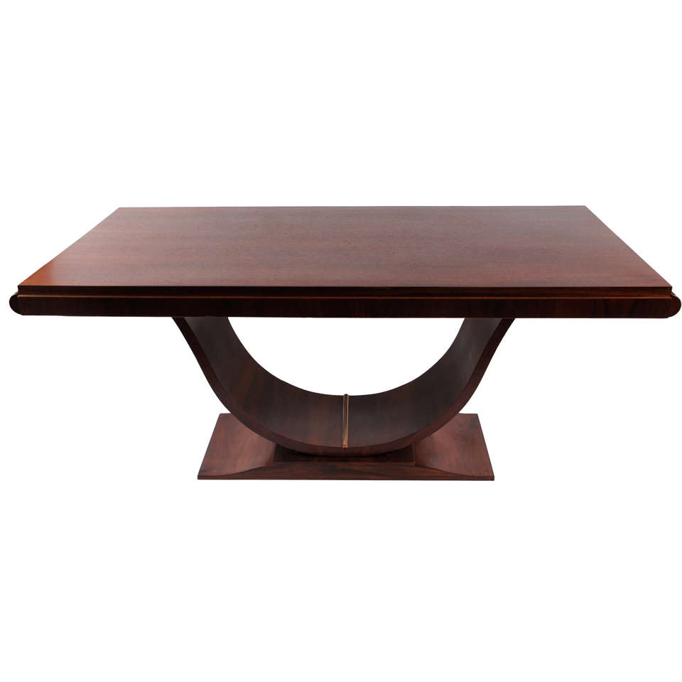 French Art Deco Rosewood Table