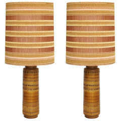 Pair of Bitossi Table Lamps