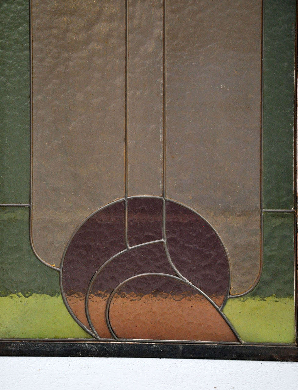 Set Of Four Art Nouveau Stained Glass Windows Attributed To Victor Horta At 1stdibs