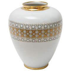 German Porcelain Vase by Jaeger & Co.
