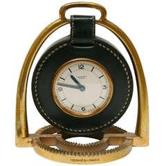Stirrup Clock by Paul Dupre Lafon for Hermès