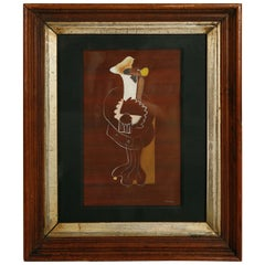 Abstract Painting in Original Frame
