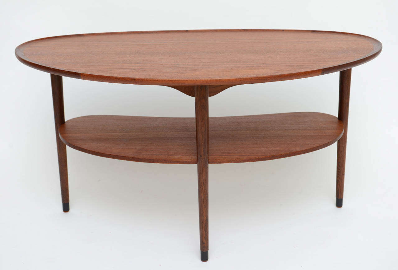 Fine Danish Teak Scallop Edge Kidney Shape Coffee Table at ...
