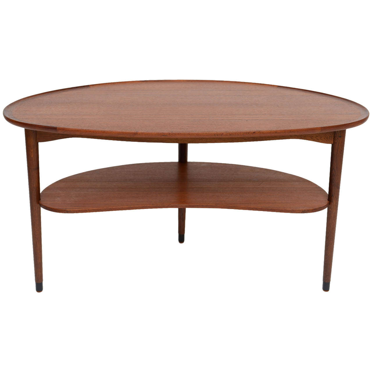 Fine Danish Teak Scallop Edge Kidney Shape Coffee Table At 1stdibs