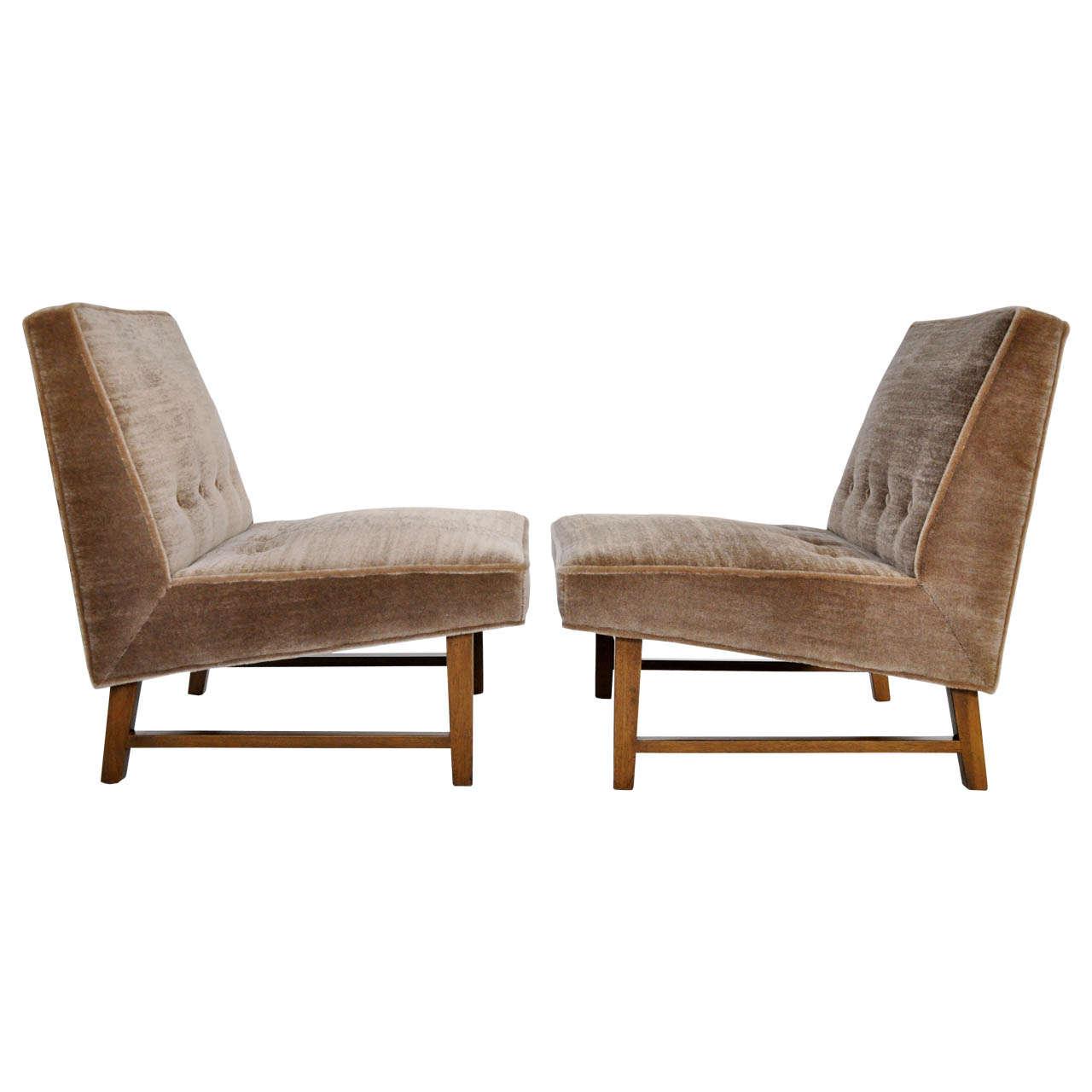 Dunbar slipper chairs edward wormley at 1stdibs - Edward wormley chairs ...