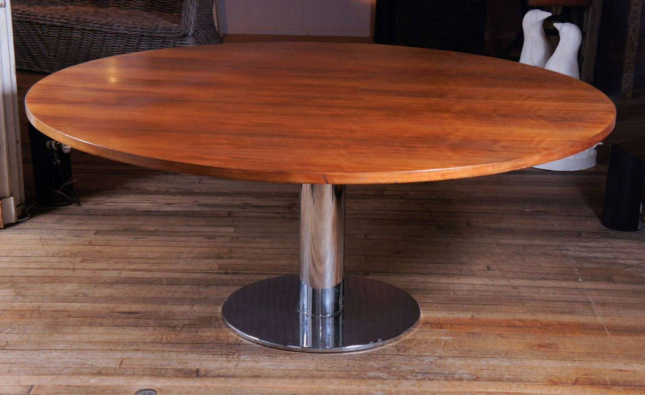 Walnut dining table at 1stdibs for B m dining room table