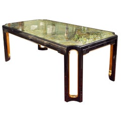 Maison Jansen Eglomise Glass-Top Dining Table