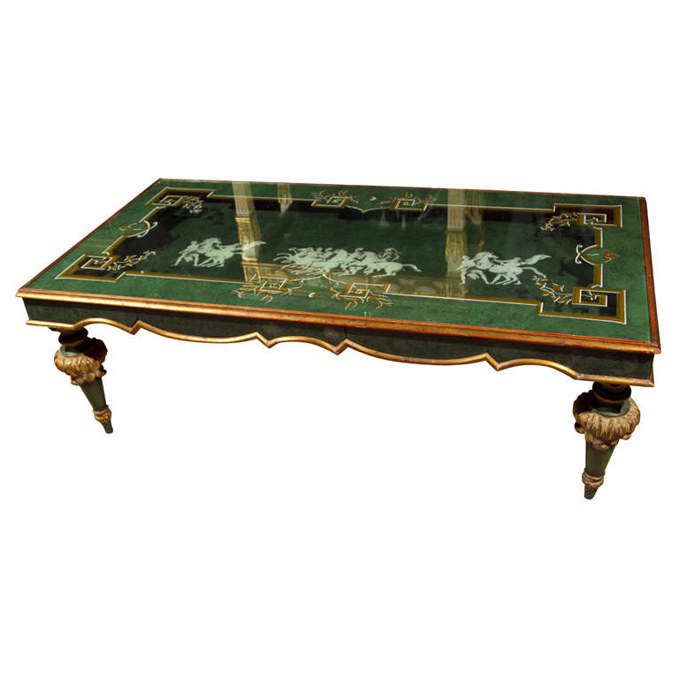 Fornasetti Style Rectangular Coffee Table For Sale At 1stdibs