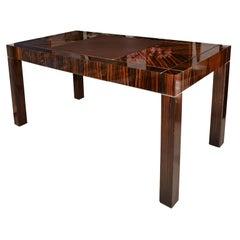 Incredible Art Deco Style Writing Table in Macassar Ebony