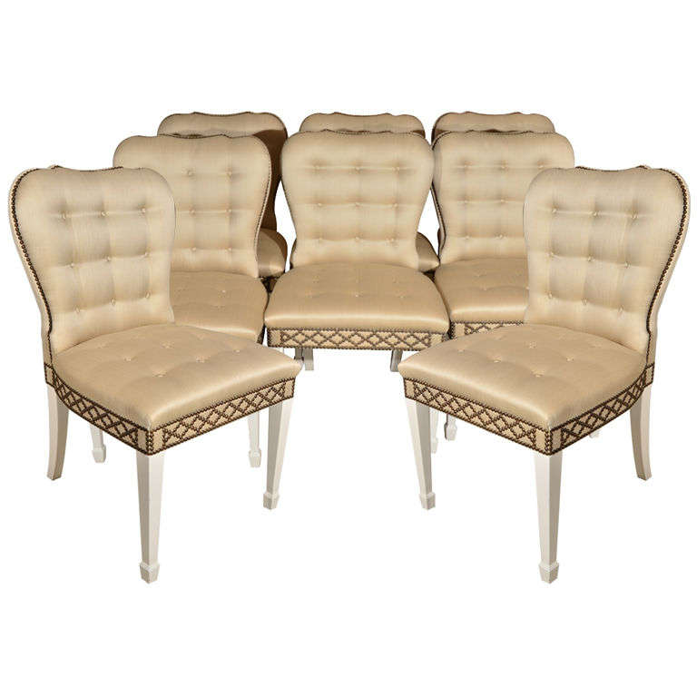 Set of 8 english regency style dining chairs at 1stdibs for Regency furniture living room sets