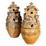 Pair of Western Jin Dynasty Funerary Jars